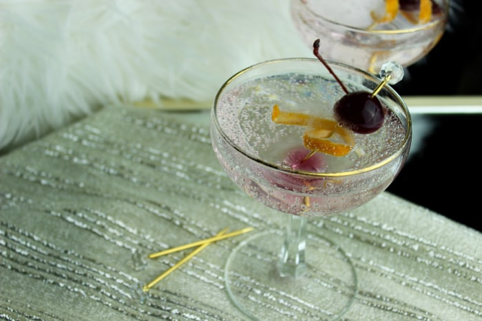 Sparkling Golden Globes Cocktail