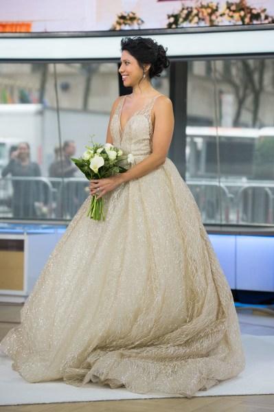 vestido de noiva metalico