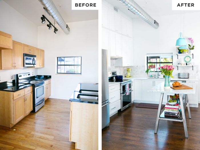 love and olive oil - Kitchen Makeovers Before And After Photos