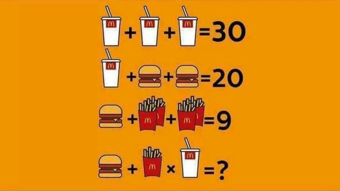 math worksheet : mcdonaldu0027s style math brainteaser stumps inter  today  : Math Brain Teaser