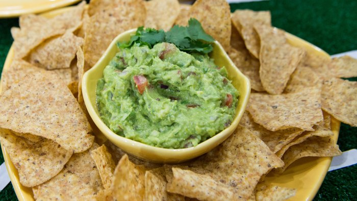 "Katie Lee from Food Network's ""The Kitchen"" joins TODAY Food to share ideas for a healthier Super Bowl spread. Gear up for game day with these three recipes that put a healthy spin on your favorite stadium-style snacks."