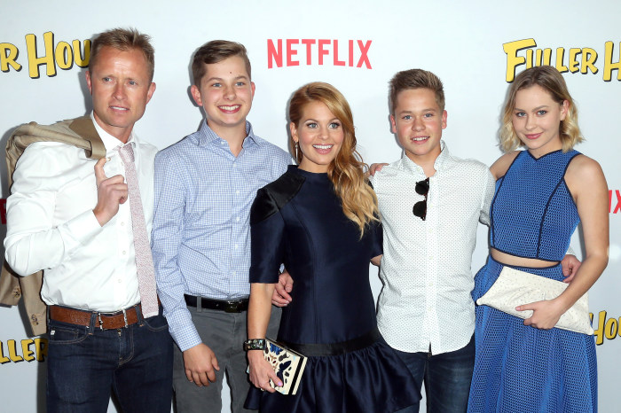Perfect family: Valeri Bure and Candace Cameron with their children