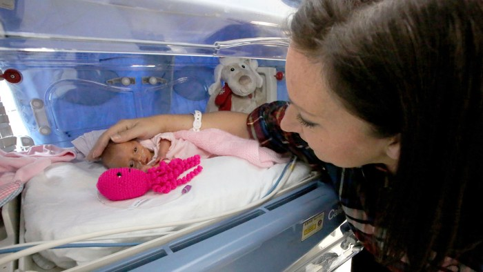 Nicu Babies Hospital Gives Stuffed Octopus Toys To