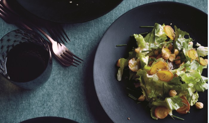 Escarole and Beet Salad with Toasted Hazelnuts