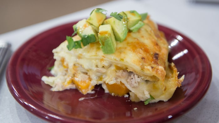 Siri Daly's recipe for Squash Enchilada Casserole