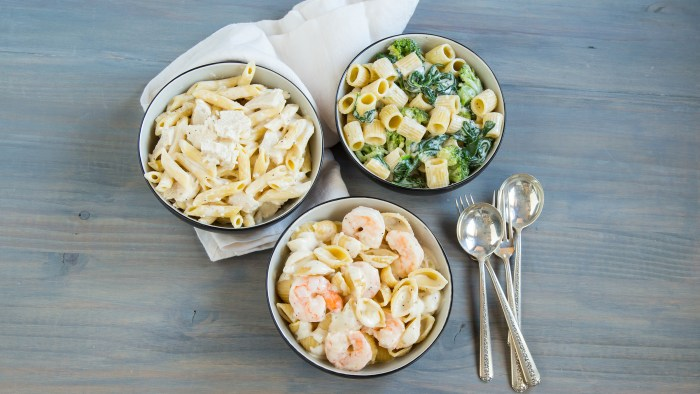 Slow-Cooker Alfredo 3 Ways