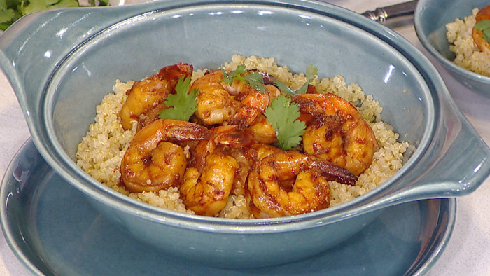 Spicy Shrimp with Quinoa