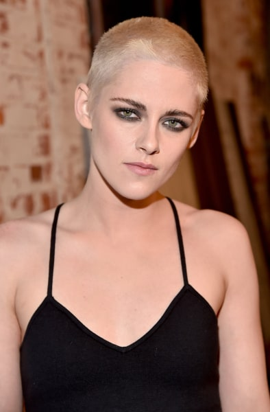 Kristen Stewart shaved her head! See her dramatic blond-and-buzzed ...