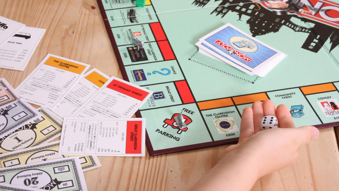 Thimble, wheelbarrow, boot kicked out of Monopoly board game