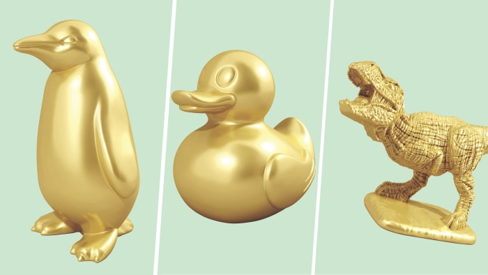 New Monopoly game pieces: T-Rex, rubber ducky, penguin - USA Today reports
