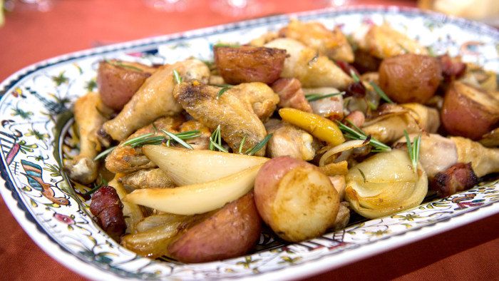 Lidia Bastianich's Grandma's Chicken and Potatoes