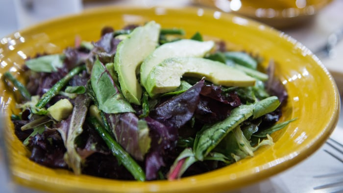 Roasted Asparagus and Avocado Salad