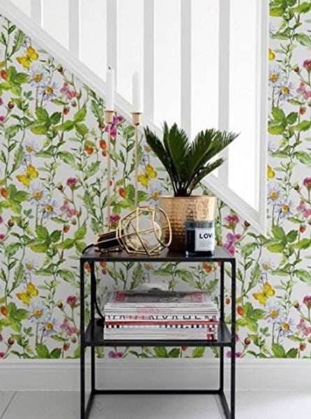 floral removable wallpaper seen on the Today Show