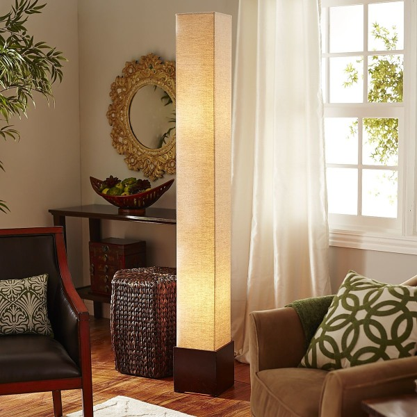 Pier 1 square floor lamp seen on Today Show