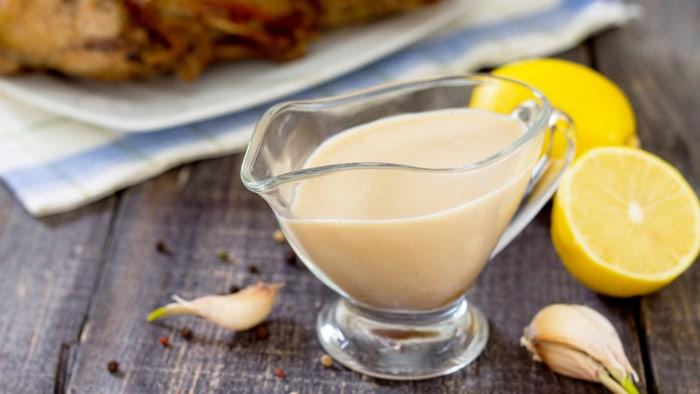 Lemon garlic sauce