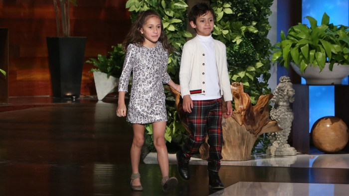 Jennifer Lopez's twins Max and Emme steal the show during ...