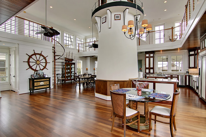 This home has a lighthouse inside of it take a tour for Light house interior