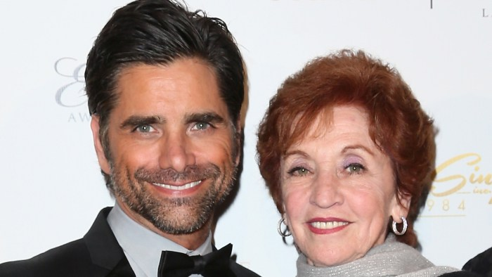 John Stamos and his mother, Loretta, at an awards events in Feb. 2014