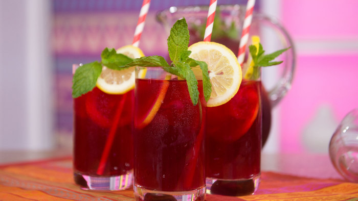 Ginger Hibiscus Mocktail