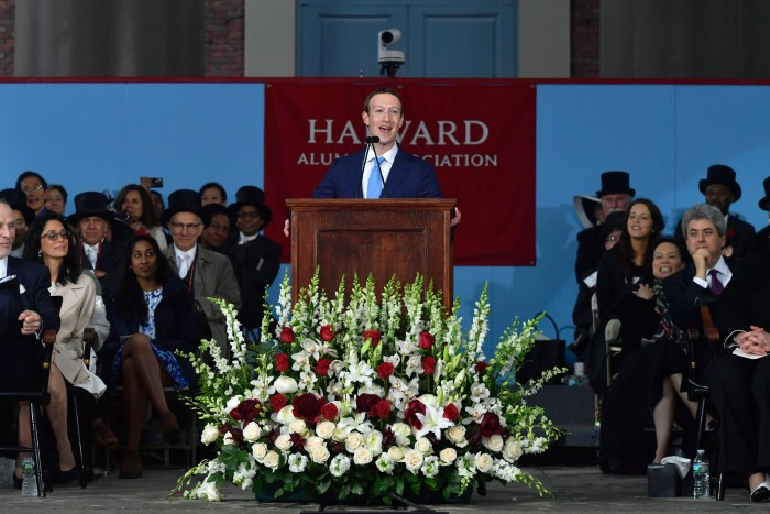 Facebook CEO Mark Zuckerberg Gives Commencement Speech At Harvard