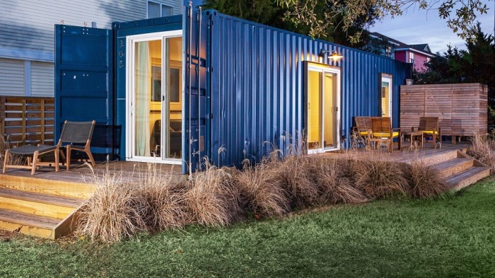 House Made Out Of Shipping Containers see inside this tiny home made out of a shipping container - today