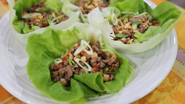 Beef Lettuce Cups