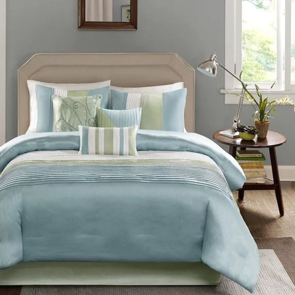 Best bedding sets top places to find quality bedspreads - Light blue and yellow bedding ...