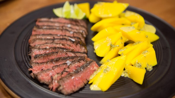 Melissa Clark's Grilled Skirt Steak with Orange, Oregano and Fresh Mango