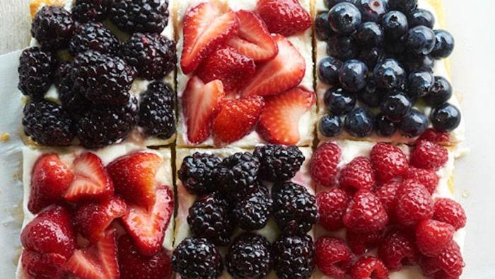Berry Patchwork Tart