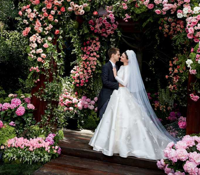 First look at Miranda Kerr's Dior wedding dress