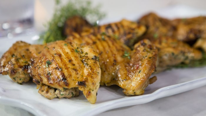 Grilled Chicken with Chile Butter