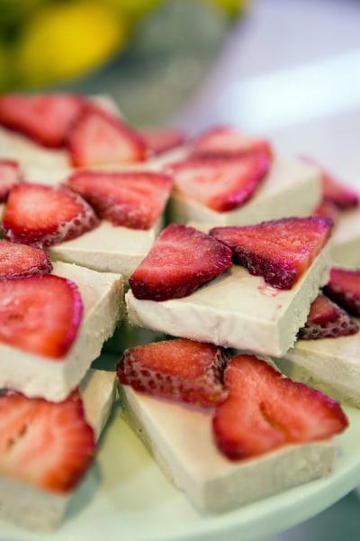Frozen Coconut Strawberry Bars