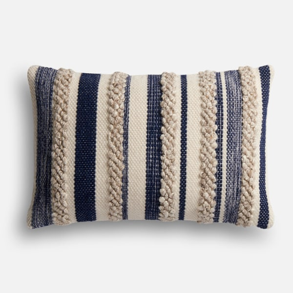 Magnolia Home Zander Navy & Ivory Lumbar Pillow