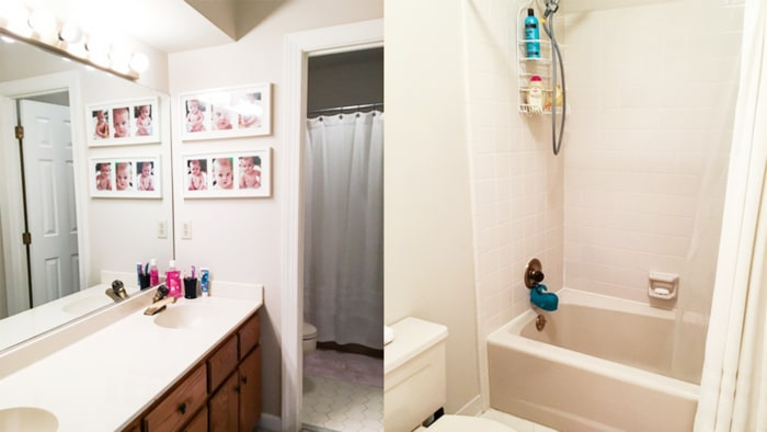 Bathroom Remodels With Subway Tile budget bathroom remodel with subway tiles - today