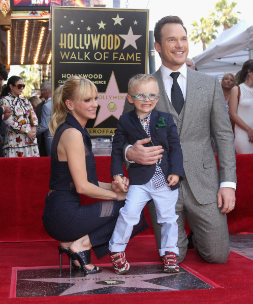 Chris pratt anna faris separate after 8 years of marriage today jesse grant getty images anna faris and jack pratt with chris junglespirit Image collections