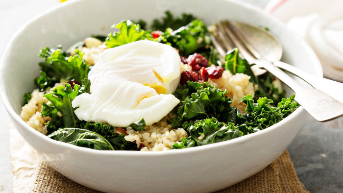 Kale Caesar with Quinoa