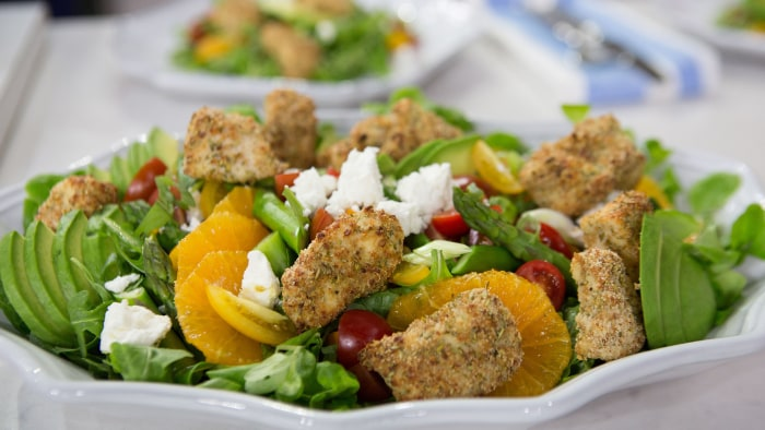 Lower Carb Popcorn Chicken With Summer Salad Today Com