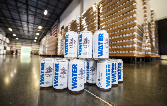 Image result for budweiser water can harvey
