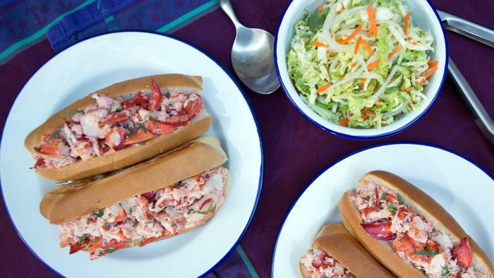 Stephen Bogardus' Lobster Rolls with Culim-Lime Slaw