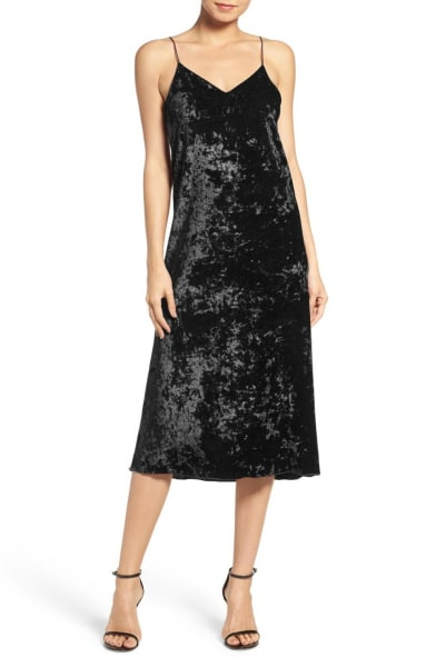 Black Velvet Slipdress Nordstrom