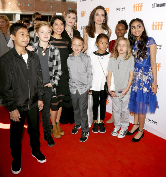 Getty Images       Jolie and her children at