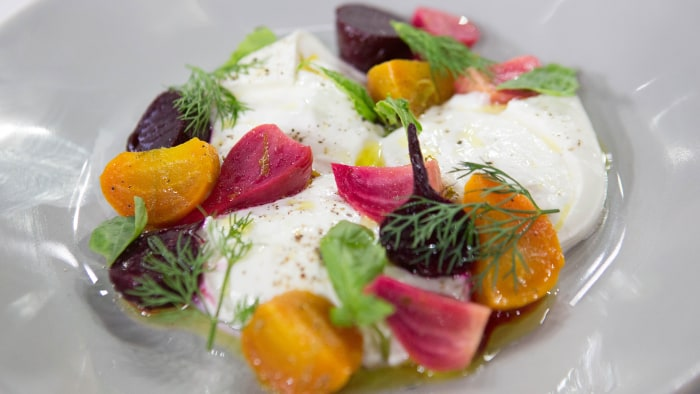 Garrison Prices' Roasted Baby Beets with Burrata