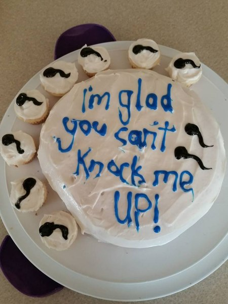 Vasectomy Party Cake