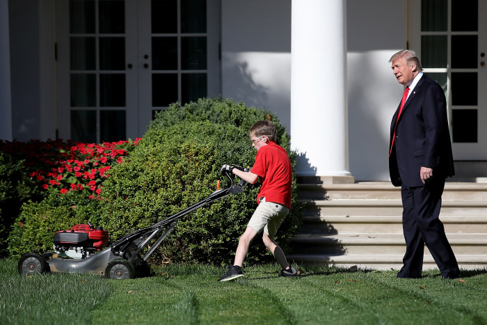 Getty Images       Giaccio was so locked in on doing a good job that he didn't notice President Trump at first