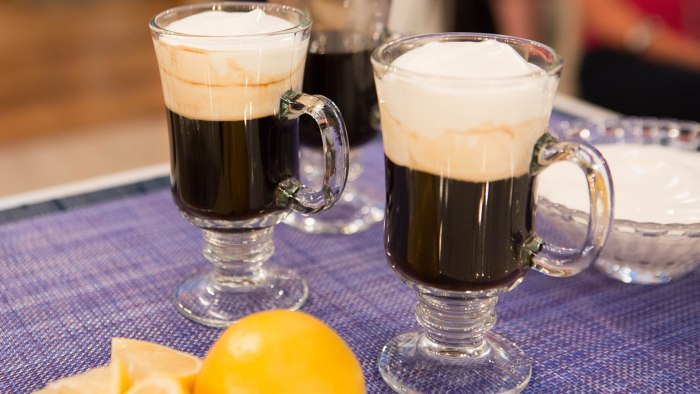Valerie Bertinelli's Irish Coffee with Lemon-Vanilla Whipped Cream