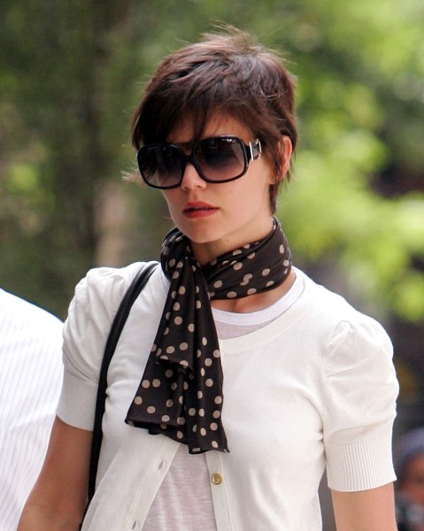 Short hair, don't care! Check out Katie Holmes' new pixie 'do
