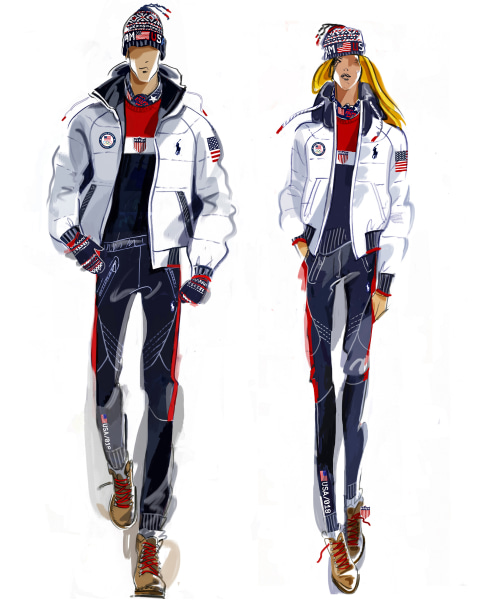 Ralph Lauren Unveils 2018 Olympic Closing Ceremony Uniforms