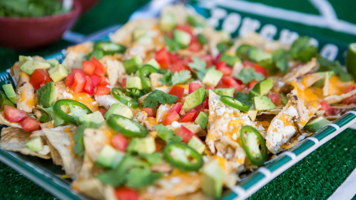 Siri & Carson's Beer Can Chicken Nachos