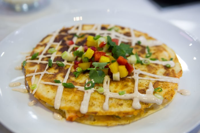 Julie Lightbourn's Lobster Quesadilla