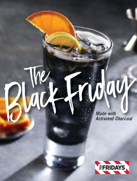 tgi fridays 39 black friday cocktail with activated charcoal. Black Bedroom Furniture Sets. Home Design Ideas